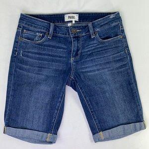 PAIGE Jax Knee Short Distressed Bermuda Shorts